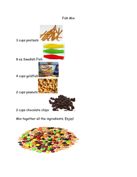 Picture Recipe Fish Themed Trail Mix