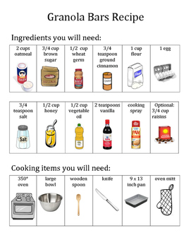 Picture Recipe: Granola Bars
