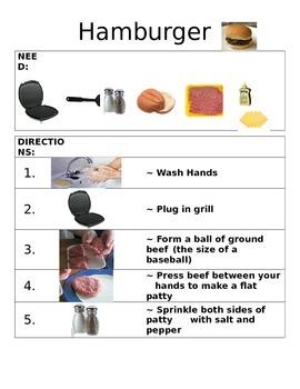 Picture Recipe: Hamburger