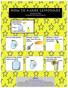 Picture Recipe: Lemonade