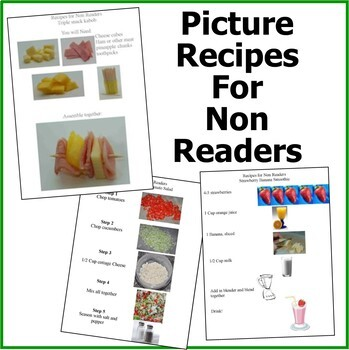 Cooking Theme-Picture Recipes for Non Readers