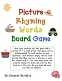 Picture Rhyming Words Board Game