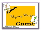 Picture Rhyming Words Game