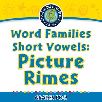 Word Families Short Vowels: Picture Rimes - NOTEBOOK Gr. PK-2