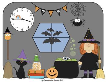 Picture Scenes {Speech & Language Carryover/Barrier Activity} Fall/Halloween
