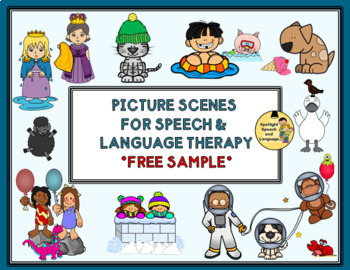 photograph regarding Free Printable Speech Therapy Materials named Visualize Scenes for Speech Language Cure - Totally free Pattern