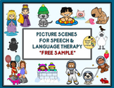 Picture Scenes for Speech & Language Therapy - FREE SAMPLE