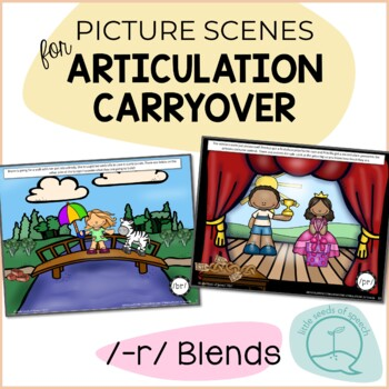 R Blends / Clusters - Picture Scenes for Targeting Speech Sounds in Conversation