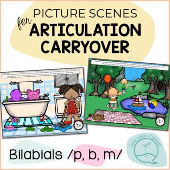 Bilabials P B M - Picture Scenes for Targeting Speech Sounds in Conversations