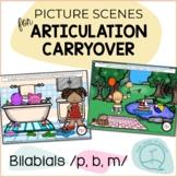Bilabials P B M - Picture Scenes for Targeting Speech Soun