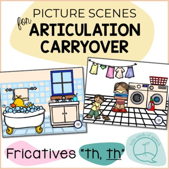 Fricatives TH - Picture Scenes for Targeting Speech Sounds in Conversations