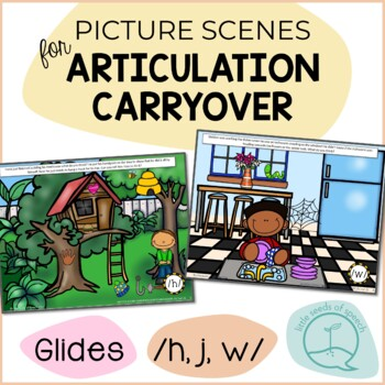 Glides W J H - Picture Scenes for Targeting Speech Sounds in Conversations
