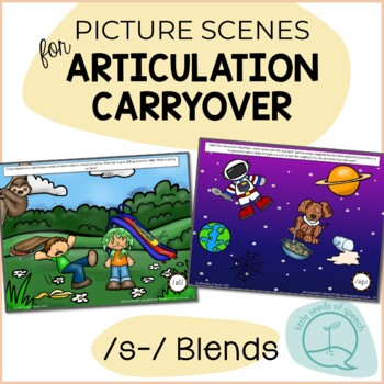 S Blends - Picture Scenes for Targeting Speech Sounds in Conversations