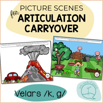 Velars K G - Picture Scenes for Targeting Speech Sounds in Conversations