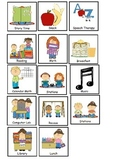 Picture/Visual Schedule for Special Education Students