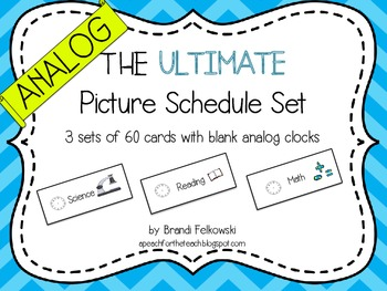 Picture Schedule - Analog Clocks