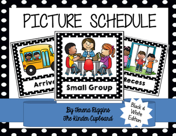 Picture Schedule Cards {Black and White}