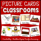 EDITABLE Picture Cards for Classroom Visual Supports