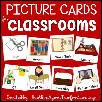 EDITABLE Picture Cards for Visual Supports