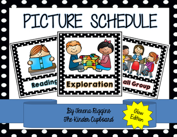 Picture Schedule Cards {Glow Edition}