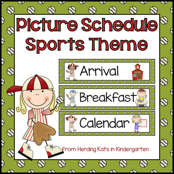 Picture Schedule Cards: Sports Classroom Decor