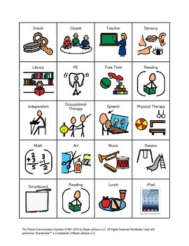 33 Picture Schedule Cards made with Boardmaker for Autism/ADHD