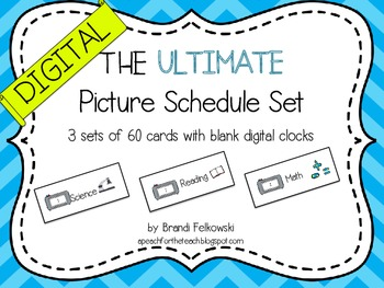 Picture Schedule - Digital Clocks
