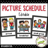 Picture Schedule {Editable} - Pre-K, Preschool