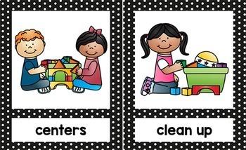 Picture Schedule {Editable} - Pre-K, Preschool