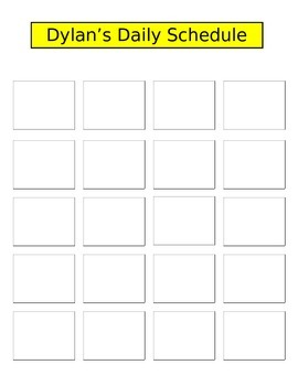 Picture Schedule Template