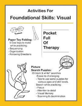 Picture Search & Paper Folding Activity Sheets