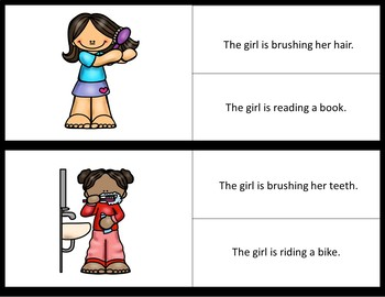 Picture/Sentence Comprehension- Daily Routines