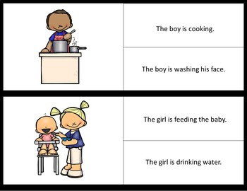 Picture/Sentence Comprehension- Indoor Chores