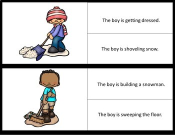 Picture/Sentence Comprehension- Outdoor Chores