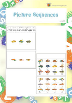 Picture Sequences (Visual Sequential Memory Worksheets)