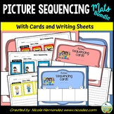 Picture Sequencing Mats with Picture Cards and Writing Sheets BUNDLE