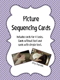 Picture Sequencing Cards- Set of 4