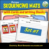 Picture Sequencing Mats with Cards and Writing Sheets (SET 1)