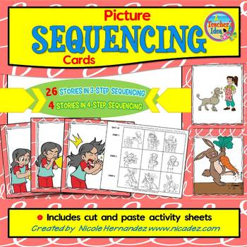 image relating to 4 Step Sequencing Pictures Printable referred to as 4 Phase Sequencing Illustrations or photos Worksheets Instruction Supplies TpT