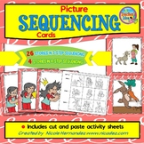 Story Sequencing Cards with Cut and Paste Sheets (3-Step a