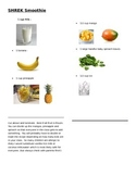 Picture Shrek Smoothie recipe card