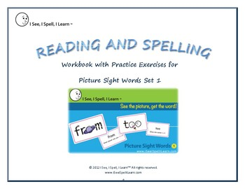 Picture Sight Words eWorkbook 1 - by I See, I Spell, I Learn®