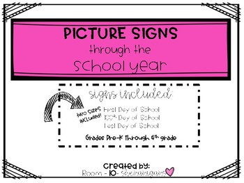 Picture Signs through the School Year