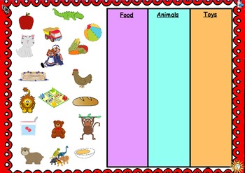 Picture Sort: An Activeboard Math Center (K.MD.3)