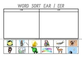 Picture Sort Cut n Paste: EAR or EER