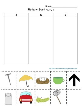 Picture Sort Phonics: Beginning Sounds