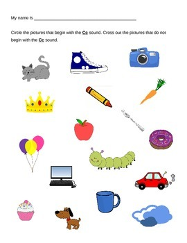 Picture Sort for Letter Sound C
