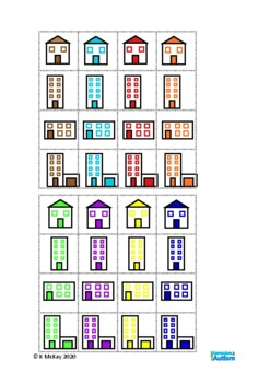 Picture Sorting Grids Autism Visual Discrimination