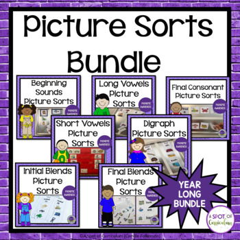 Phonemic Awareness Picture Sorts Bundle for Guided Reading