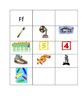 Picture Sorts - Dd, Ff and Gg - Phonics and Vocabulary Activity